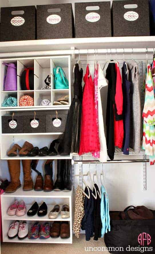 Kids Closet Organization by Uncommon Designs | Smart Closet Hacks and Organization Ideas
