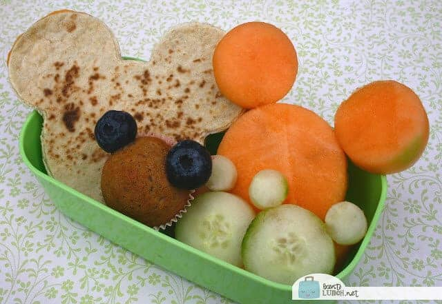 Mickey Mouse Bento Lunch by BentoLunch.Net | Mickey Mouse ideas that are so cute!