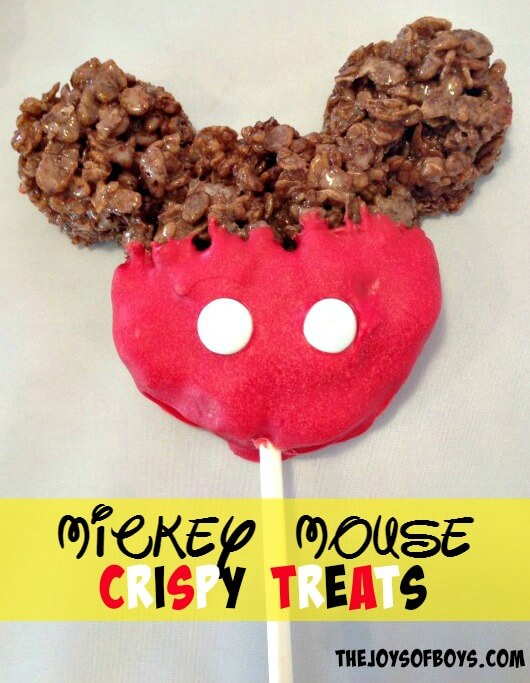 Mickey Mouse Crispy Treats by Joy of Boys | Mickey Mouse Ideas that are so cute!