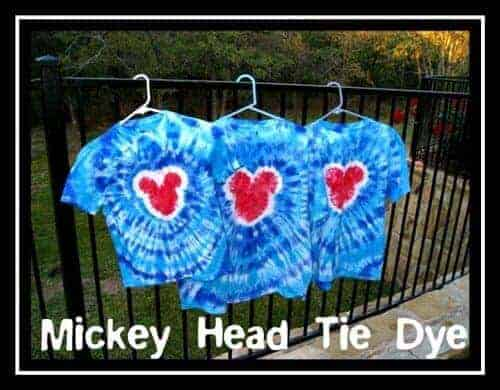 Mickey Mouse Tie Dye T-shirts by Kids Activities Blog | Mickey Mouse Ideas that you are going to love!