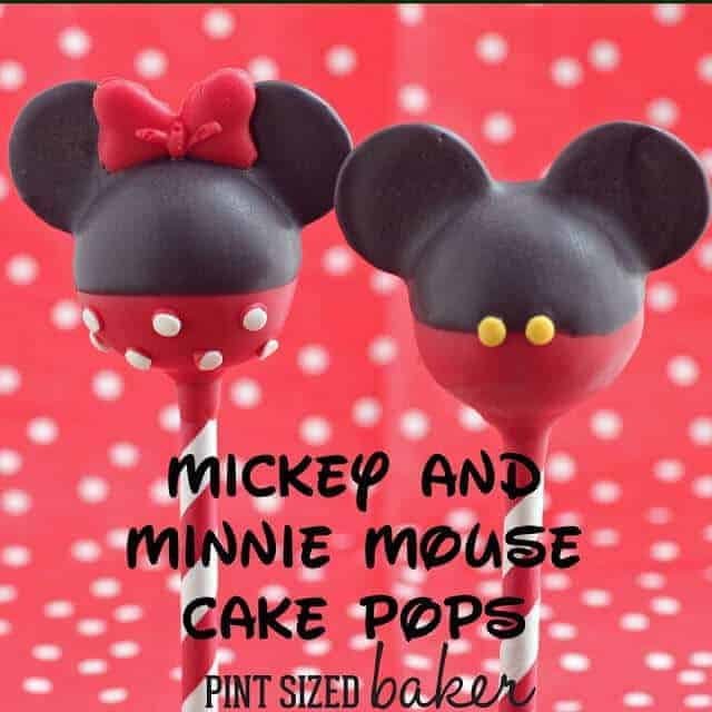 Mickey and Minnie Mouse Cake Pops by Pint Sized Baker | Mickey Mouse Ideas you are going to love!
