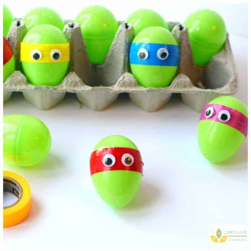 Teenage Mutant Ninja Turtle Easter Eggs by Lemon Lime Designs | The Coolest Easter Egg Ideas!
