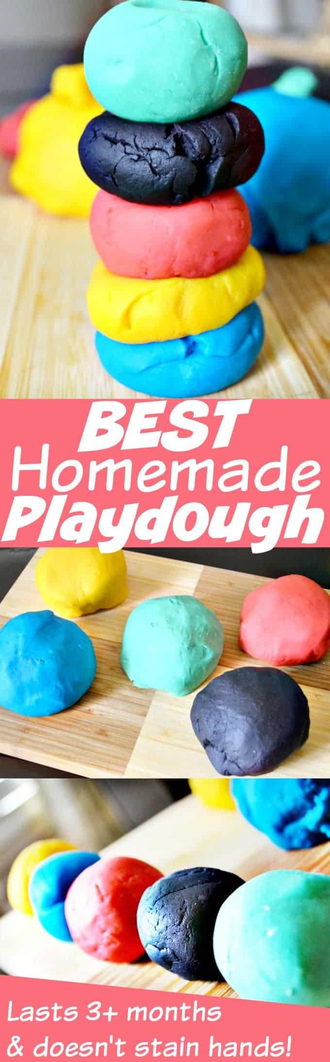 The Best Homemade Playdough Recipe Ever from Domestic Superhero