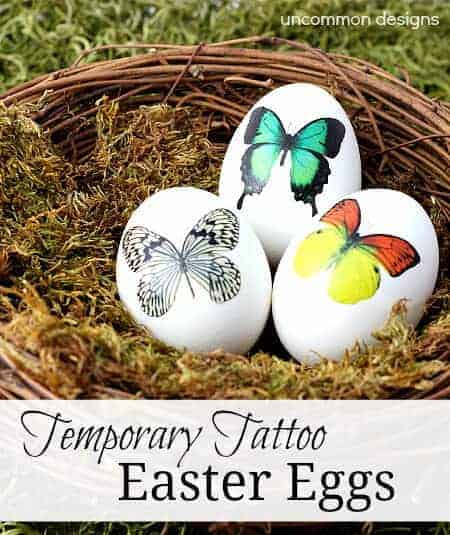 How to Make Temporary Tattoo Easter Eggs by Uncommon Designs | The Coolest Easter Egg Ideas!