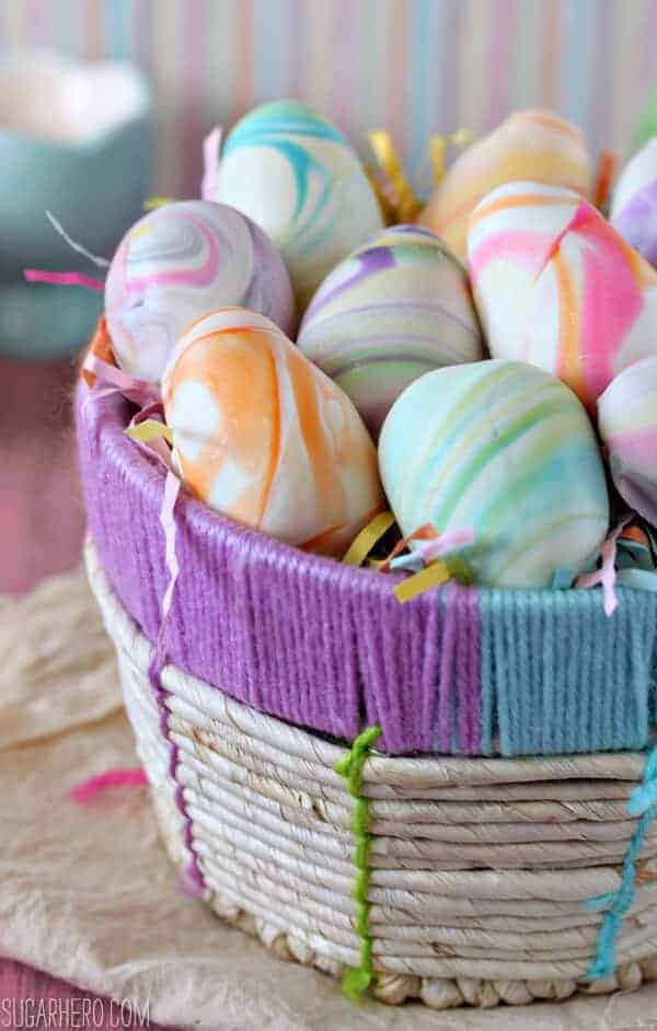Marbled Easter Egg Truffles by Sugar Hero | The Coolest Easter Egg Ideas!