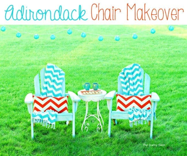 Adirondack Chair Makeover by The Gunny Sack | Garage Sale Makeovers that Wow!