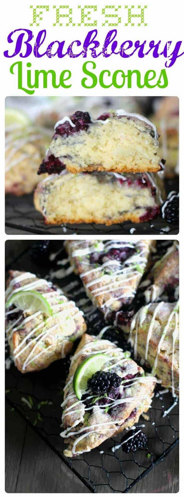 Jump into spring with these delicious Blackberry Lime Scones that are loaded with fresh blackberries and tangy lime. They make the perfect treat for your Spring get-togethers.