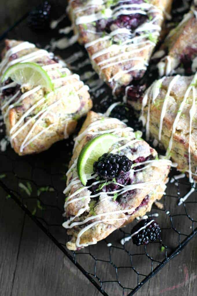 Blackberry Lime Scones