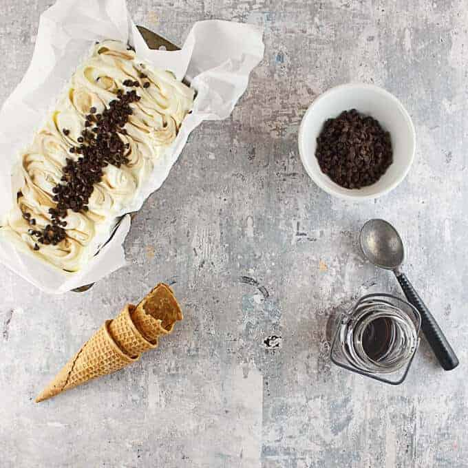 This easy, no-churn chocolate chip pancake ice cream is a sweet twist on a breakfast favorite. In this decadent dessert, smooth vanilla ice cream with buttery undertones gives way to a sweet maple syrup swirl and crisp semi-sweet chocolate chips. It's the perfect way to make your day sweet!