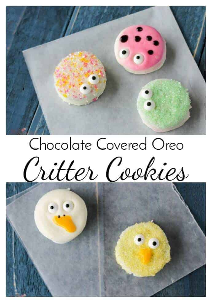 Chocolate Covered Oreo Critter Cookies - They are no bake and you just need a few supplies and a little time to make this delicious and easy Spring Dessert!