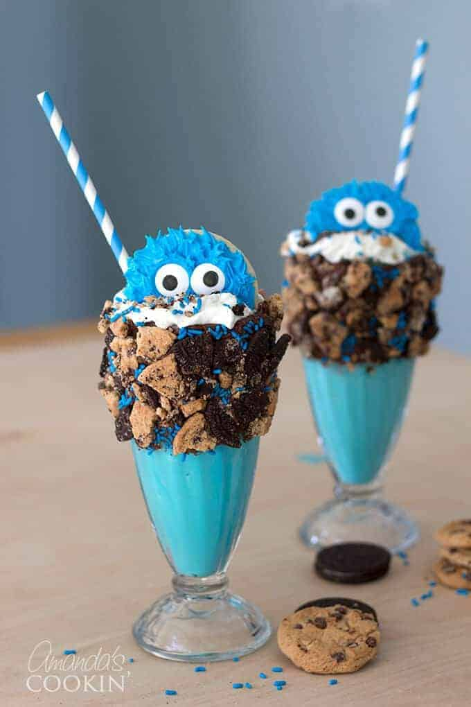 Cookie Monster Freak Shake by Amanda's Cookin | 14 Fabulous Freak Shakes
