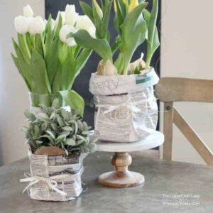 Newspaper Spring Planter Bags for Flowers and Plants