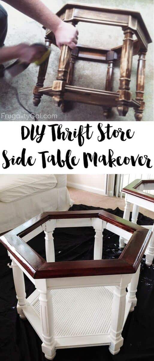 DIY Thrift Store Table Makeover by Frugality Gal | Garage Sale Makeovers that Wow!