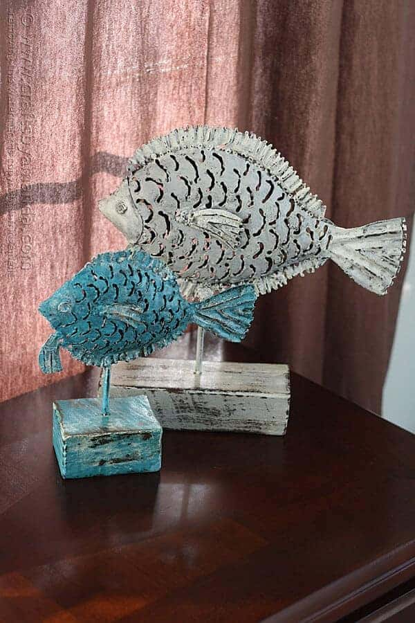 Garage Sale Metal Fish Makeover by Crafts by Amanda | Garage Sale Makeovers that Wow!