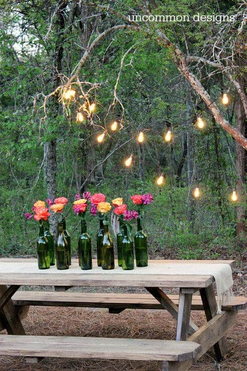 Outdoor Lighting by Uncommon Designs | Budget Backyard Decorating Project Ideas