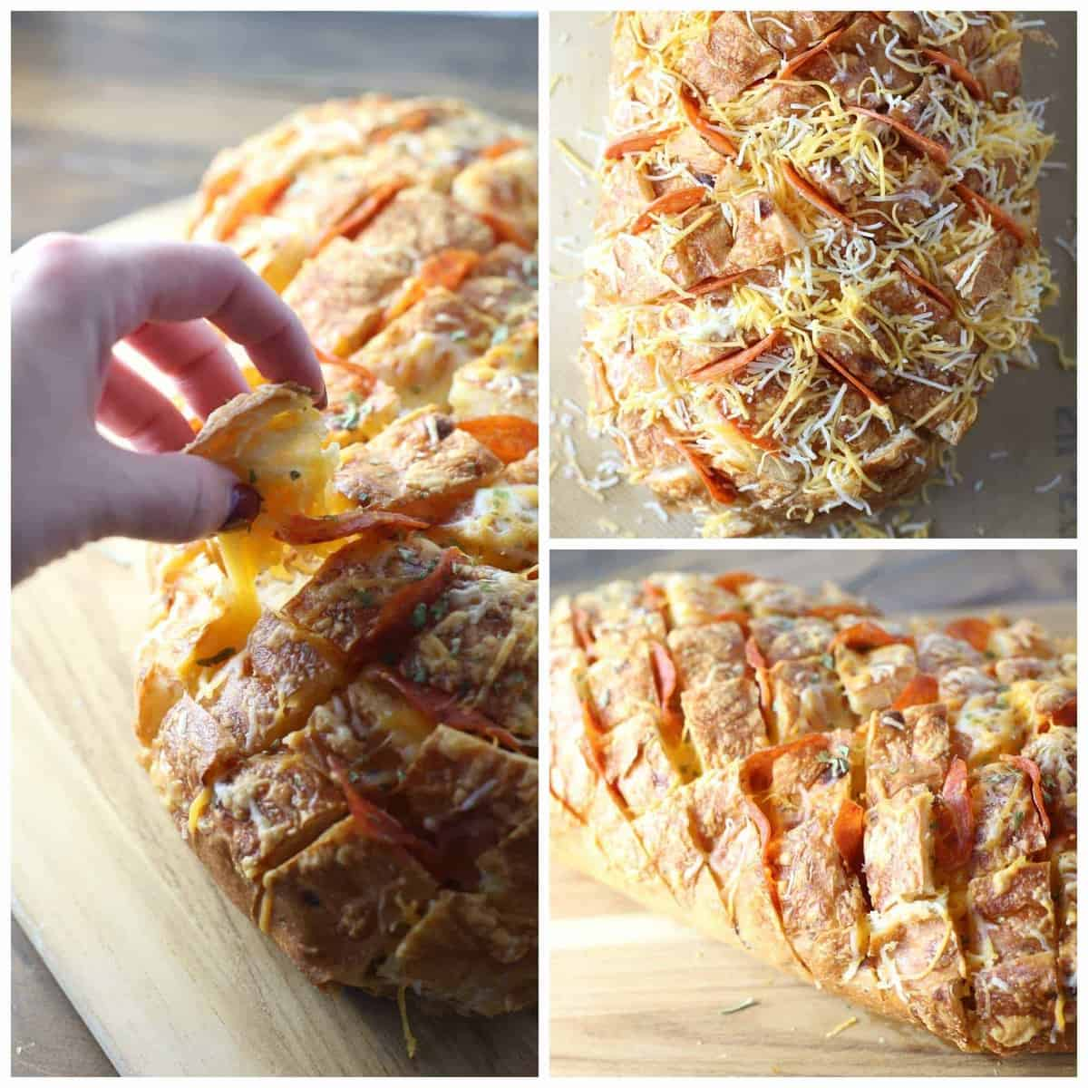 Pizza Pull Apart bread - great for a side dish or easy appetizer