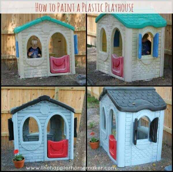 Plastic Playhouse Paint Makeover by The Happier Homemaker
