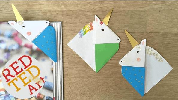 Unicorn Corner Bookmark by Red Ted Art | Whimsical DIY Unicorn Ideas