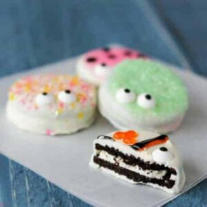 Chocolate Covered Oreo Critter Cookies