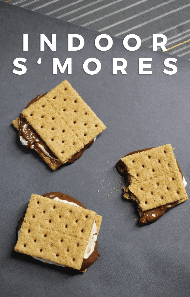 The easiest Indoor S'Mores - These incredibly easy indoor s'mores are just as amazing as your campfire recipe but require no heat!