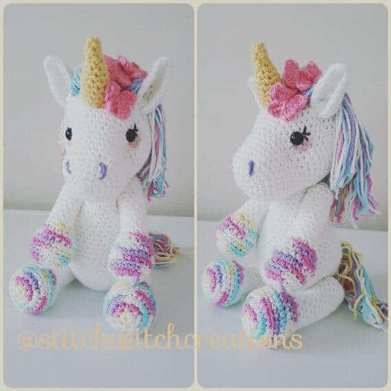 Unicorn stuffed animal crochet pattern