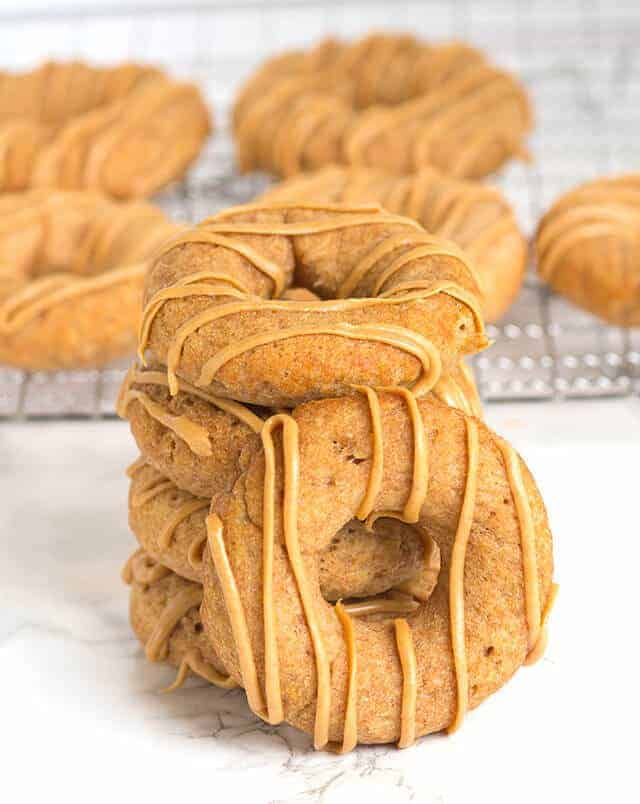 Apple Peanut Butter Dognuts by Cookie Dough and Oven Mitt | Homemade Dog Treat Recipes and DIY Ideas for Dogs