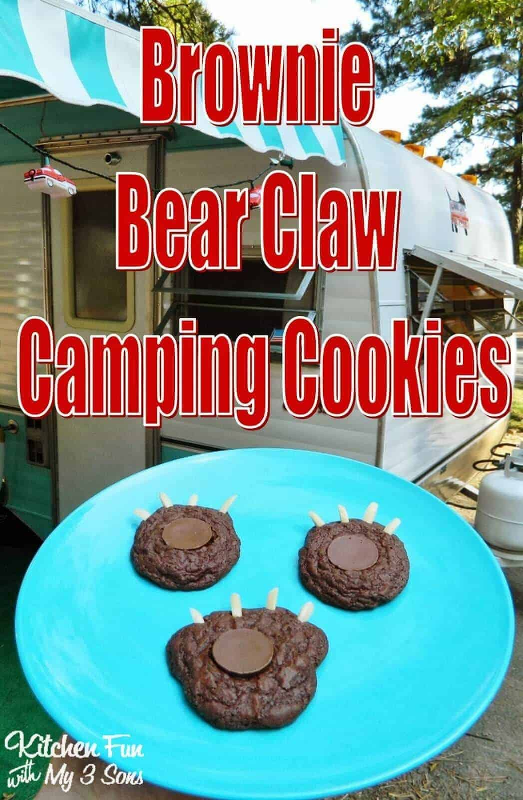 Brownie Bear Claw Camping Cookies by Kitchen Fun with My 3 Sons   Amazingly delicious camping recipes