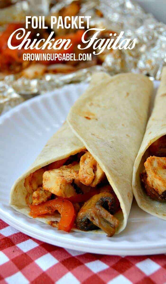Campfire Chicken Fajita Foil Packet Recipe by Growing Up Gabel | Amazingly Delicious Camping Recipes
