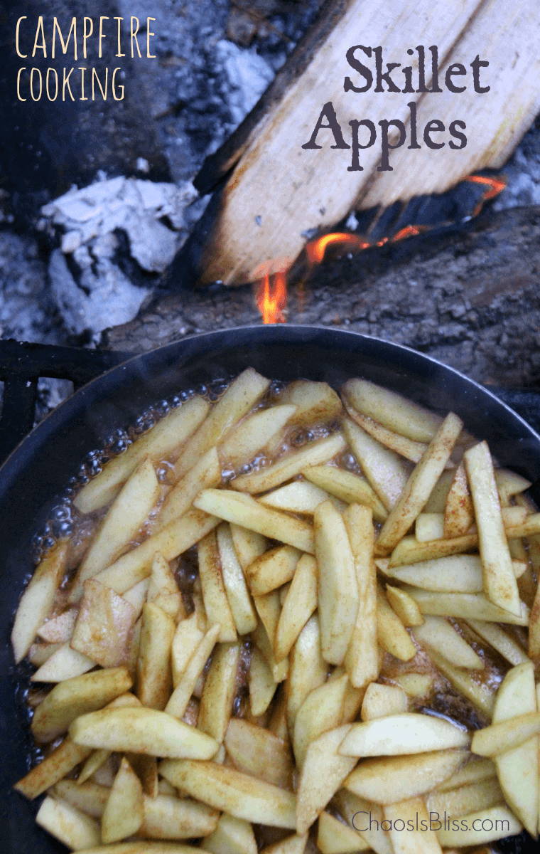 Campfire Skillet Apples by Chaos is Bliss |Amazingly Delicious Camping Recipes