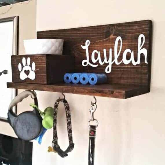Customized dog treat and leash holder