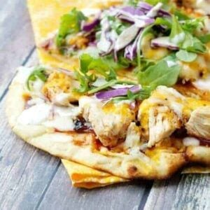 Grilled BBQ Chicken Flatbread