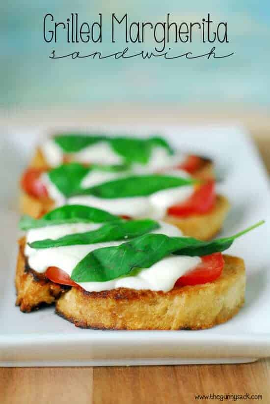 Grilled Margherita Sandwiches by The Gunny Sack | Amazingly Delicious Camping Recipes
