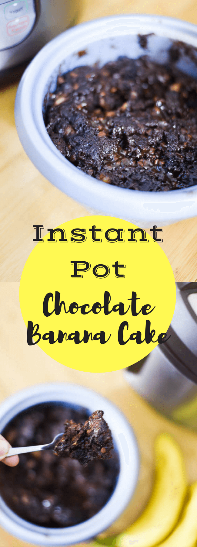 Instant Pot Chocolate Banana Cake | Instapot Dessert Recipes that will have your sweets ready in minutes!