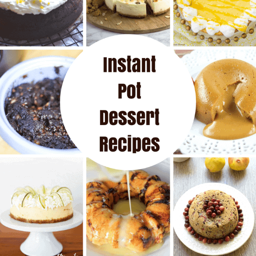 Instapot Dessert Recipes that will have your sweets ready in minutes!
