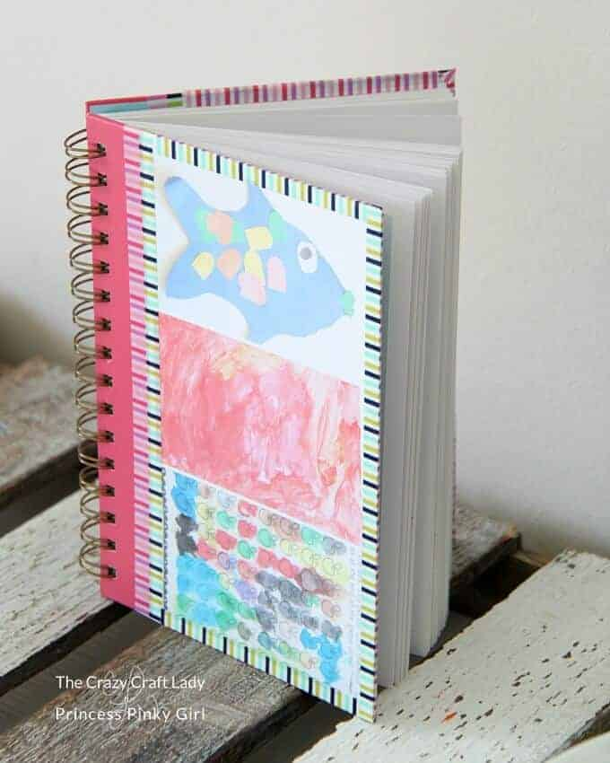 Make this DIY Kids Artwork Notebook Cover and turn your child's art creations into the perfect sentimental gift for a grandparent or handmade Mother's Day gift!