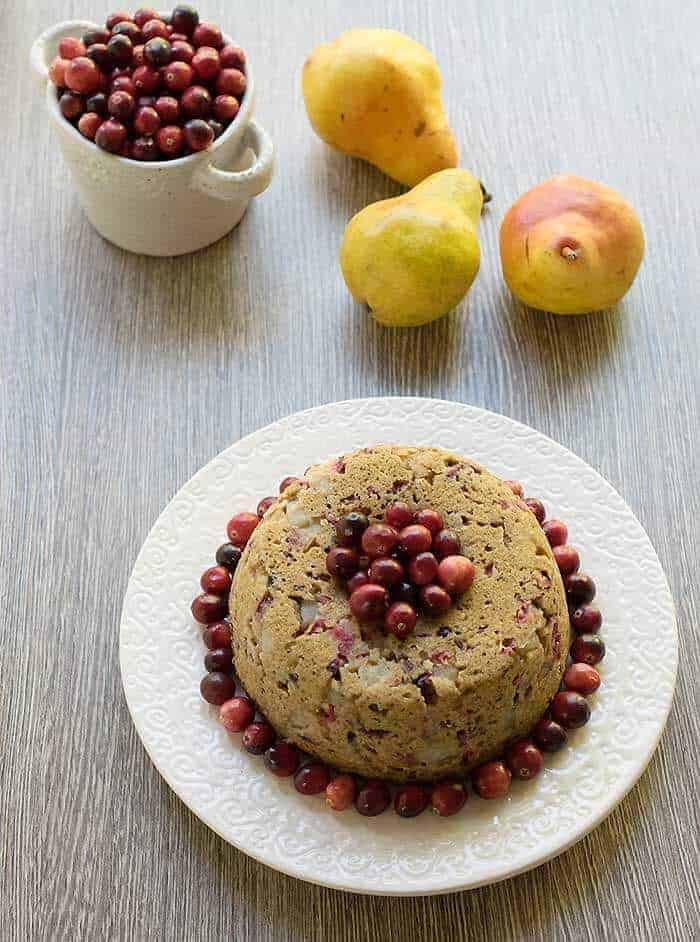 Pear Cranberry Instant Pot Cake by Healthy Slow Cooking | Instapot Dessert Recipes that will have your sweets ready in minutes!