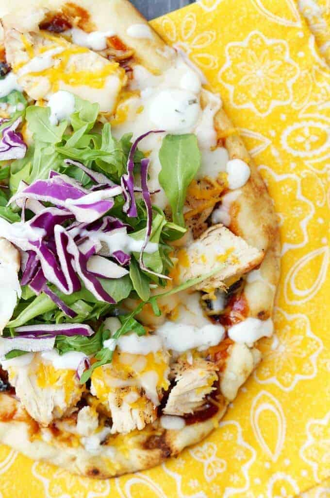 Grilled BBQ Chicken Flatbread Recipe - Easy and delicious recipe you can make on the grill in no time