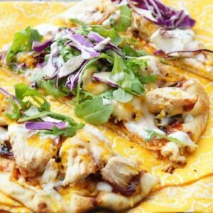 Grilled BBQ Chicken Flatbreads