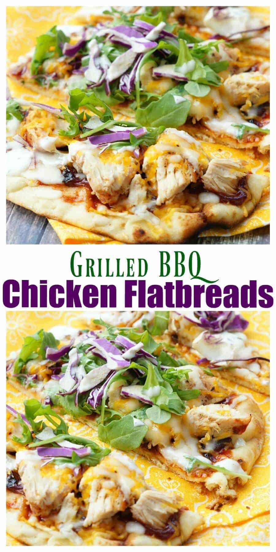 This Grilled BBQ Chicken Flatbread Recipe is so easy and flavor packed! Your family will love this easy grilled dinner recipe!