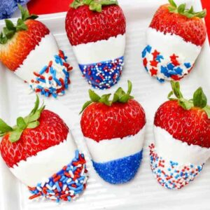 Patriotic Chocolate Covered Strawberries