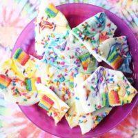White Chocolate Rainbow Bark