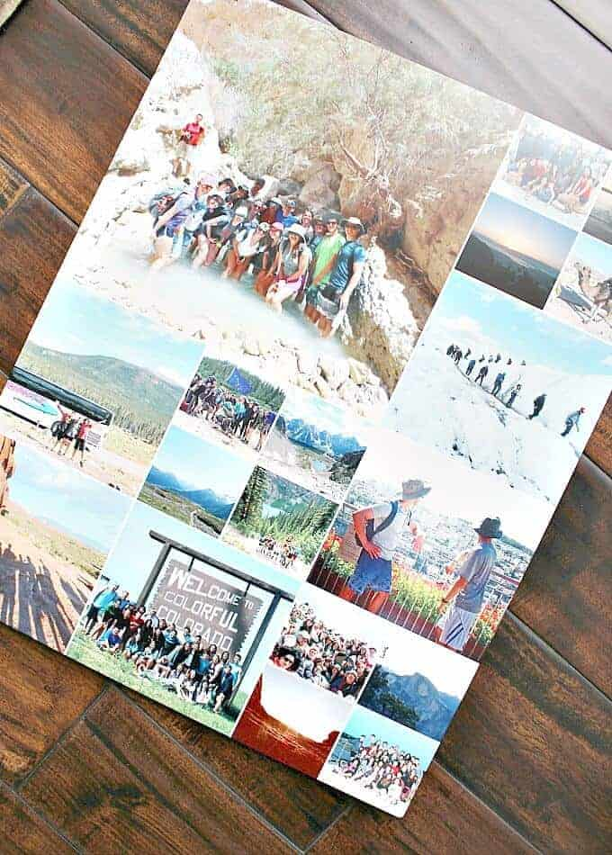 Create a metal print collage for a great personal graduation gift