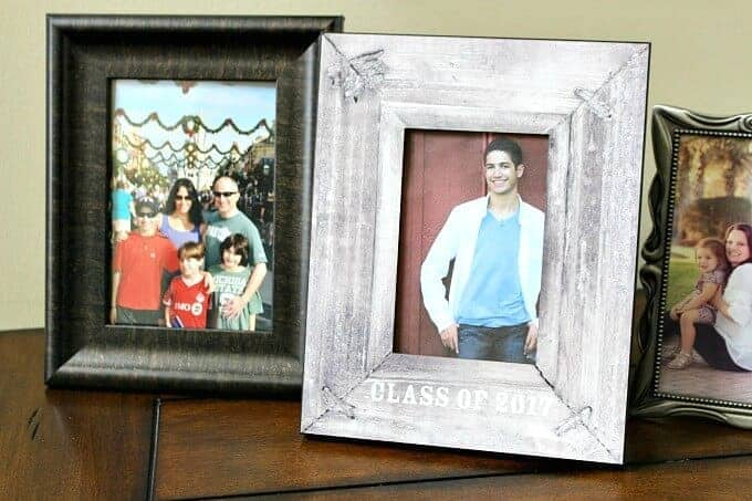 Personalized picture frames make great grad gifts or gifts for grandparents