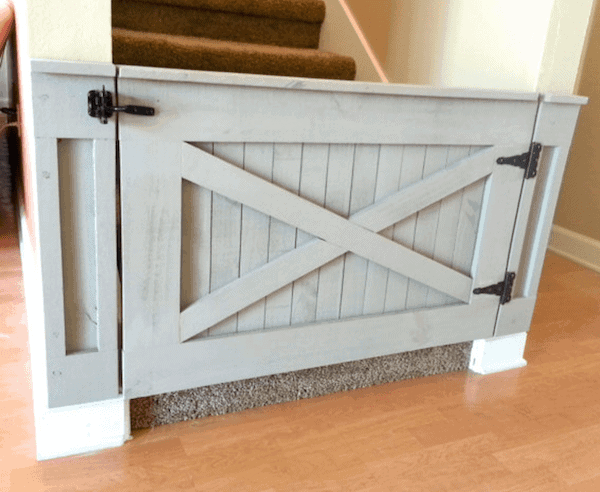 Rustic Barn Door Baby Gate