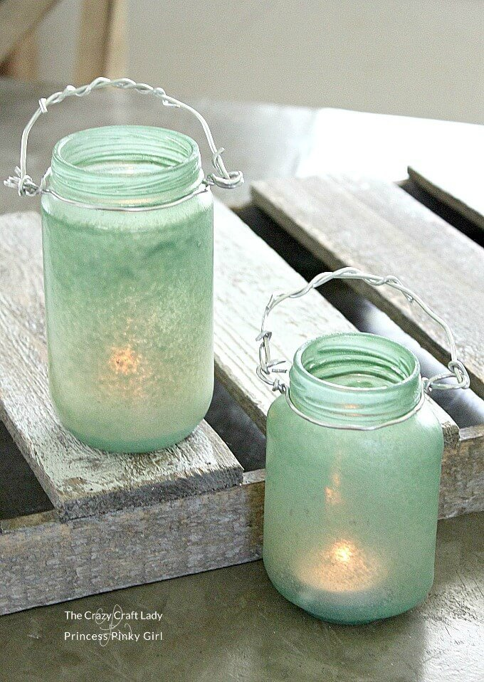 How to make DIY sea glass lanterns. Step by step instructions