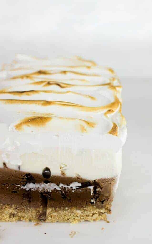 S'more Ice Cream Cake - taking s'mores to the next level ...