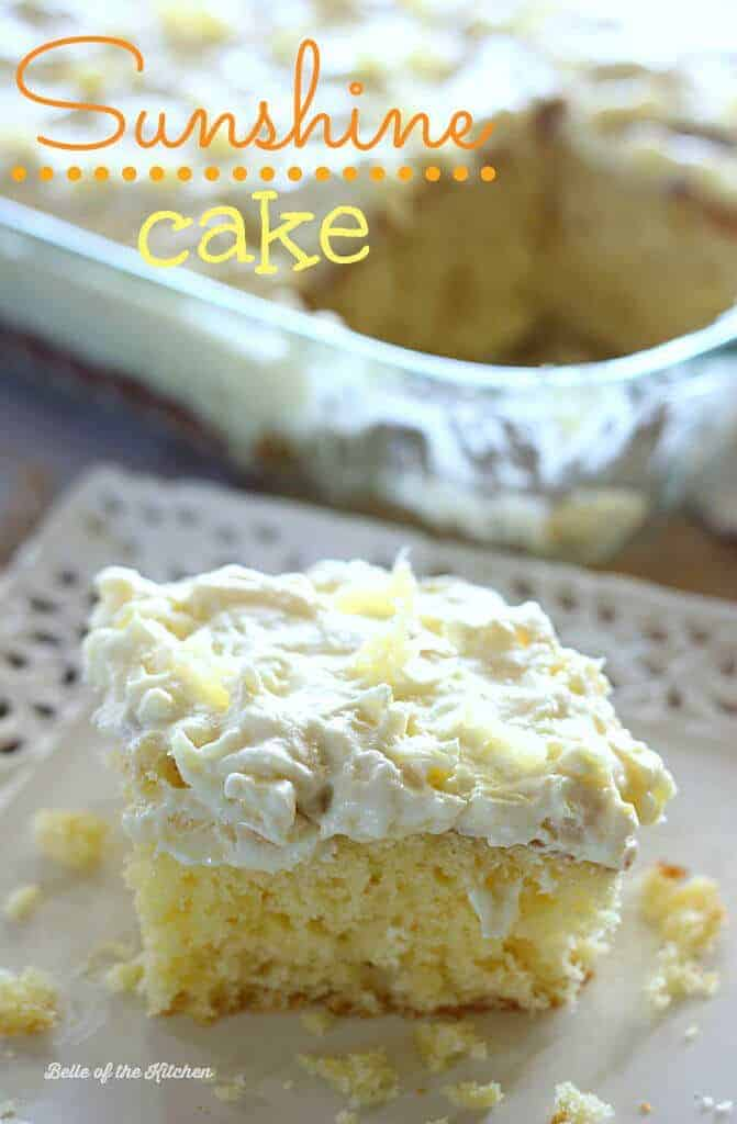 Sunshine Cake by Belle of the Kitchen | These are the best cake mix recipes on Pinterest! They are all so quick, so easy and so delicious!