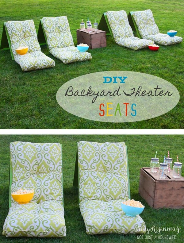 DIY backyard theater seats from Not Just a Housewife