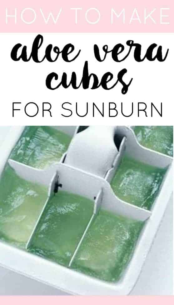 Aloe Vera Cubes by The Dumbelle| The Coolest Ice Cube Tray Hacks Around. Those plastic trays can be used to make so much more than just ice!