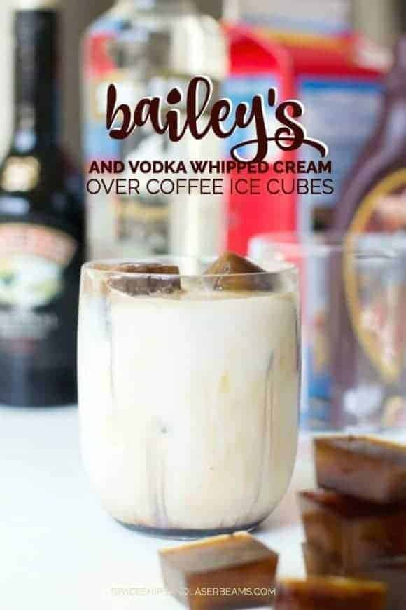 Baileys Vodka Whipped Cream with Coffee Ice Cubes from Spaceships and Laserbeams
